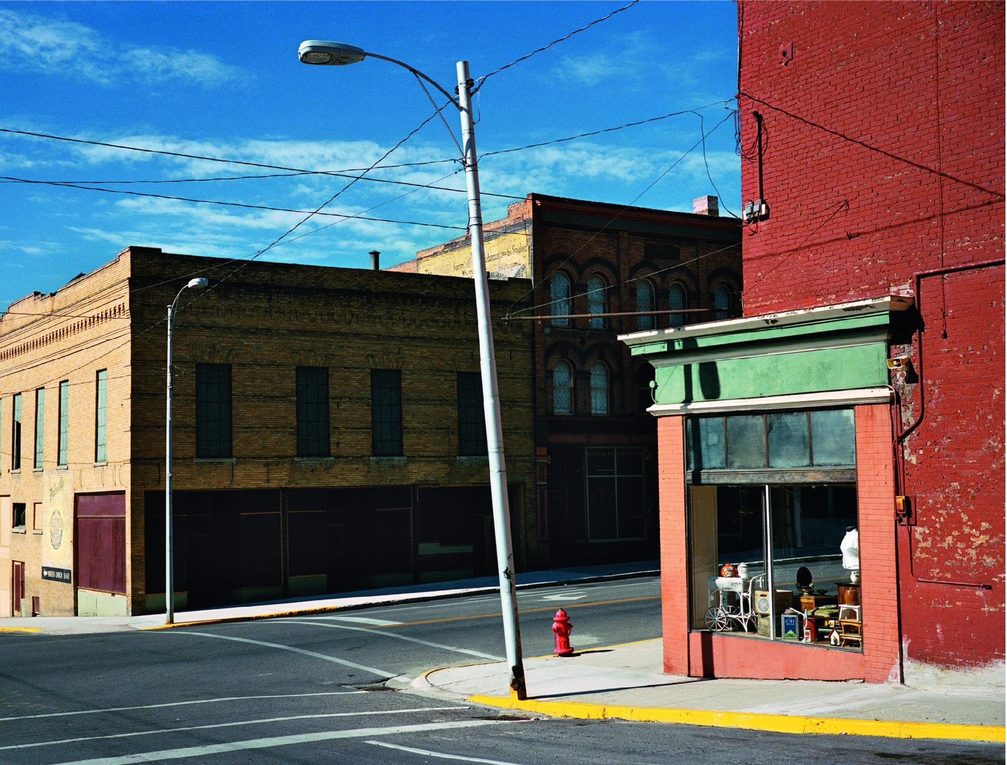 Wim Wenders Streetcorner in Butte